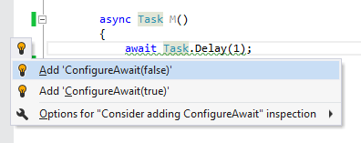 ConfigureAwait Checker for ReSharper